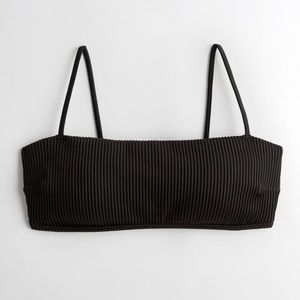 Ribbed square neck bikini top and bottoms